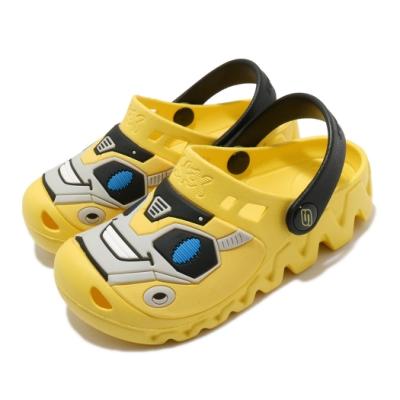 Skechers 涼拖鞋 Zaggle-Heat Swell 童鞋 大黃蜂 水鞋 園丁鞋 避震 緩衝 中童 黃 黑 400074LYLBK