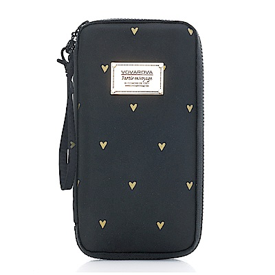 VOVAROVA空氣包-環遊世界護照夾-心空閃耀(黑)