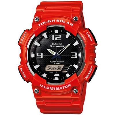 CASIO 型男個性太陽能雙顯錶-亮紅(AQ-S810WC-4A)/52mm