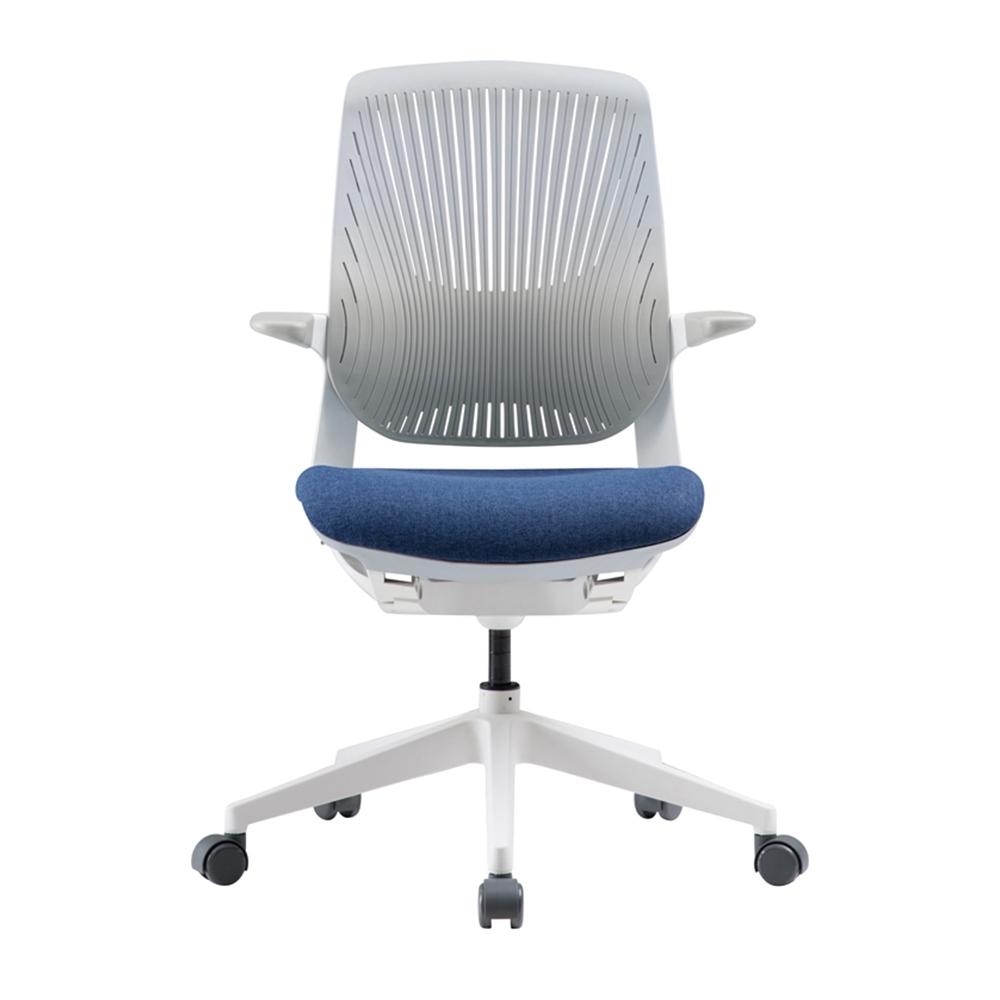 【iloom怡倫】Oliver plastic人體工學 透氣(旋轉型)電腦椅 (寶石藍)
