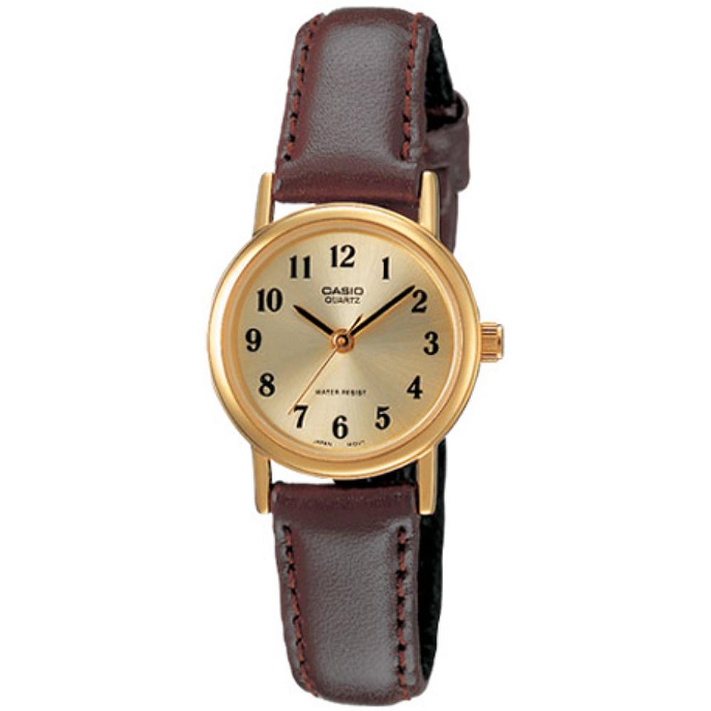 CASIO 小資女穿搭基本款女錶-金X阿拉伯數字刻(LTP-1095Q-9B1)/20mm