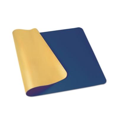 【ABEL】雙色PU皮質桌墊-藏藍+橘黃