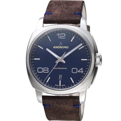 Anonimo EPURATO義式經典機械錶-42mm/藍
