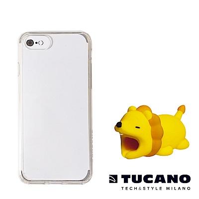 TUCANO iPhone7/8完美防護組合(防撞保護套+動物園Ⅱ咬線器隨機款)