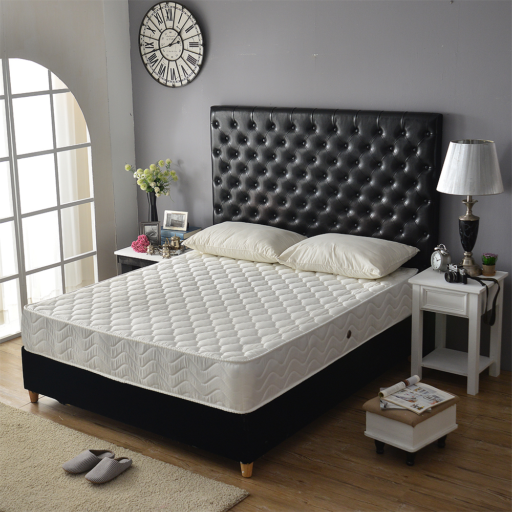 Ally愛麗-飯店級舒柔加厚抗菌防潑水獨立筒床墊-雙人5尺-限定本月