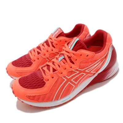 Asics 慢跑鞋 Tartheredge 2 運動休閒 女鞋 亞瑟士 回彈 高抓地力 穩定 賽跑 紅 白 1012A733600