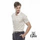 【Lynx Golf】男款吸濕排汗夏季海洋印花胸袋款短袖POLO衫-卡其色 product thumbnail 2