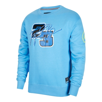 NIKE 上衣 長袖上衣 喬丹 刷毛 運動 男款 藍 DD3877-412 Jordan Sport DNA