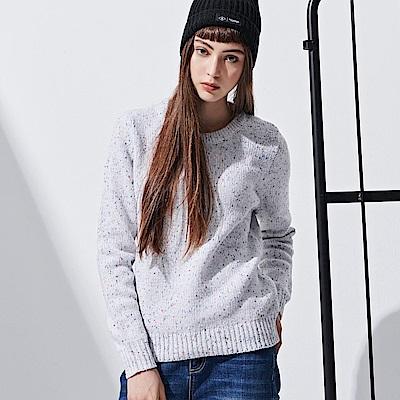 CACO-點紗素面毛衣-情侶款(兩色)-女【RNC025】