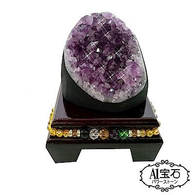 A1寶石 頂級巴西天然紫晶鎮/陣《695g》加贈五行水晶木座/開運金錢母