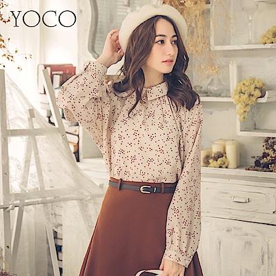 東京著衣-yoco 法國女孩印花蓬蓬袖上衣-S.M.L(共一色)