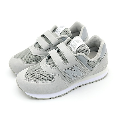 New Balance 中大童休閒鞋-YV574TC-W 灰