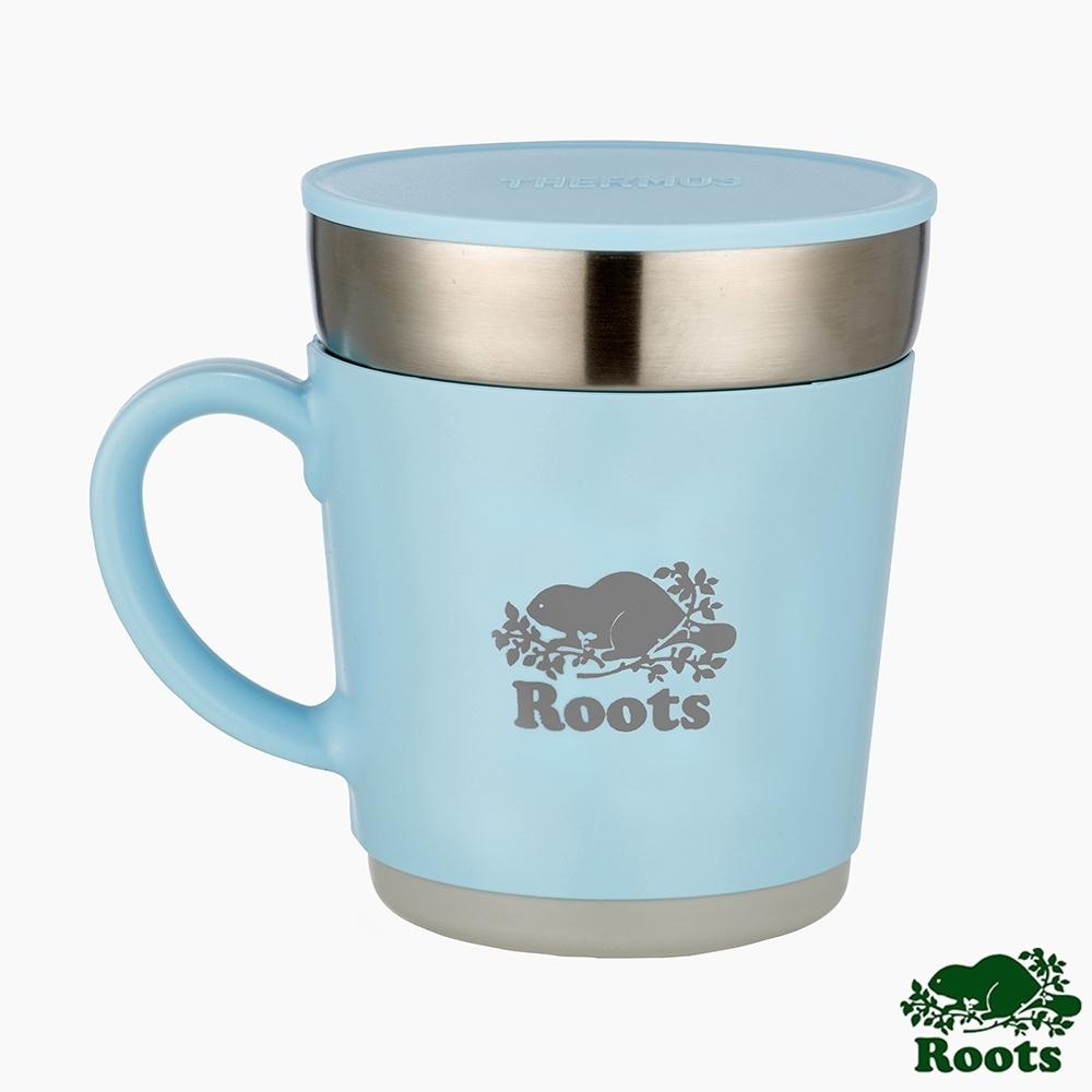 ROOTS X Thermos不銹鋼雙層保溫杯-藍