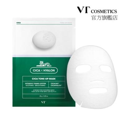 韓國 VT CICA TONE-UP老虎積雪草 提亮面膜(28g*6片)盒裝