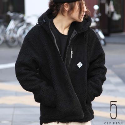 ZIP日本男裝 BOA絨毛連帽夾克外套 素色/撞色拼接 (12色)