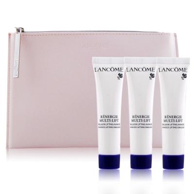 LANCOME 蘭蔻 超緊顏5D抗皺活化乳15mlX3+優雅粉化妝包