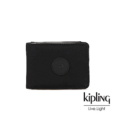 Kipling 極致低調黑暗釦短夾-MONEY KEEPER