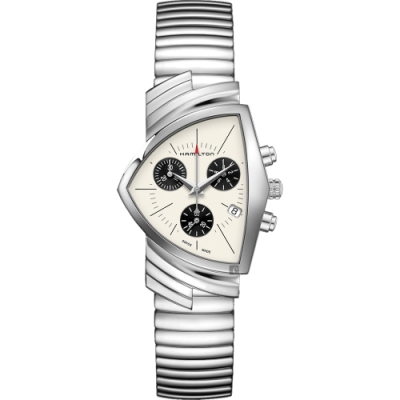 Hamilton 漢米爾頓 VENTURA 盾形石英計時手錶 H24432151