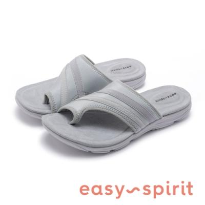 Easy Spirit seLOLA2 行走舒適 拼接布面夾腳拖鞋-灰色