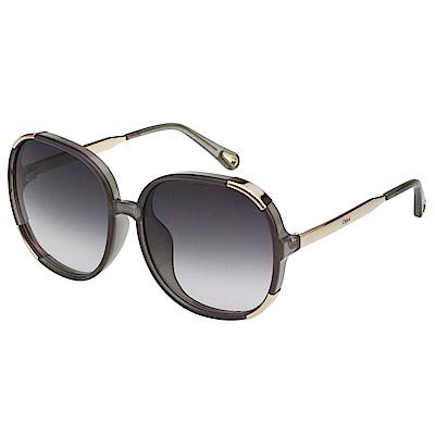CHLOE太陽眼鏡 圓框 經典款(透明灰)CE721SAD-036