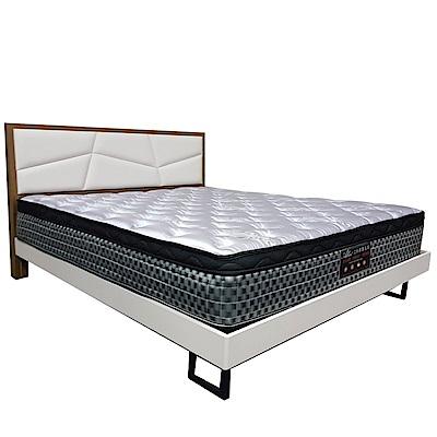 Albert 艾柏 抗菌防蹣6尺天絲雙人加大彈簧床墊-180x188x26.7cm免組