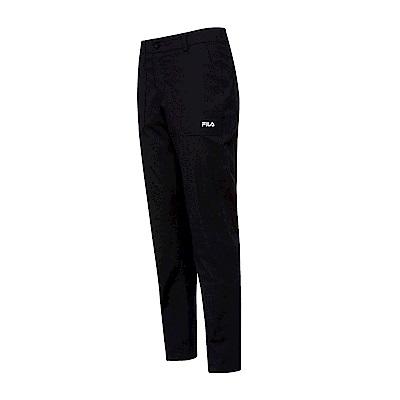 FILA 男平織長褲-黑色 1PNT-1449-BK