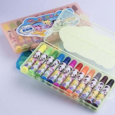 利百代 可愛家族彩色筆-12色 W-001