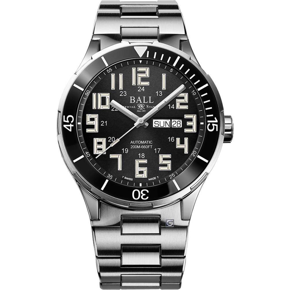 BALL 波爾錶 Roadmaster StarLight Ceramic機械腕錶 DM3050B-S10C-BK-43mm