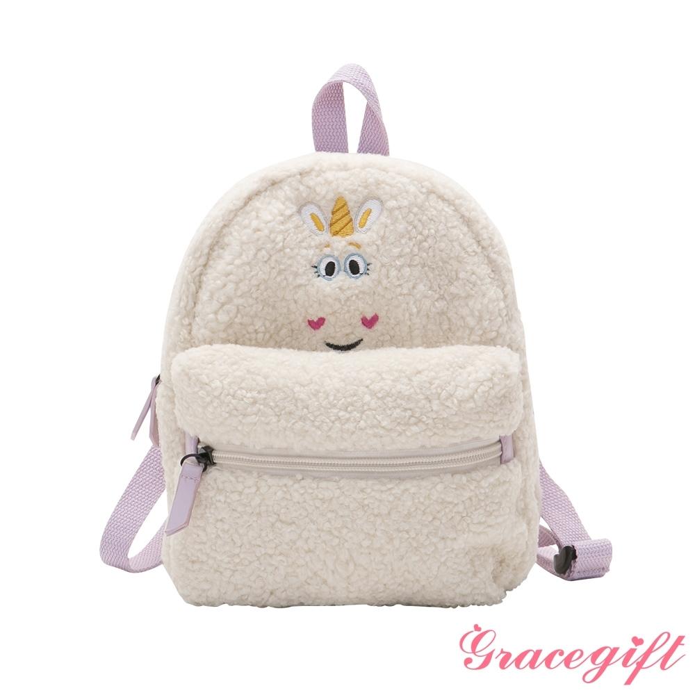Disney collection by grace gift-玩具總動員小奶油Q毛後背包 白