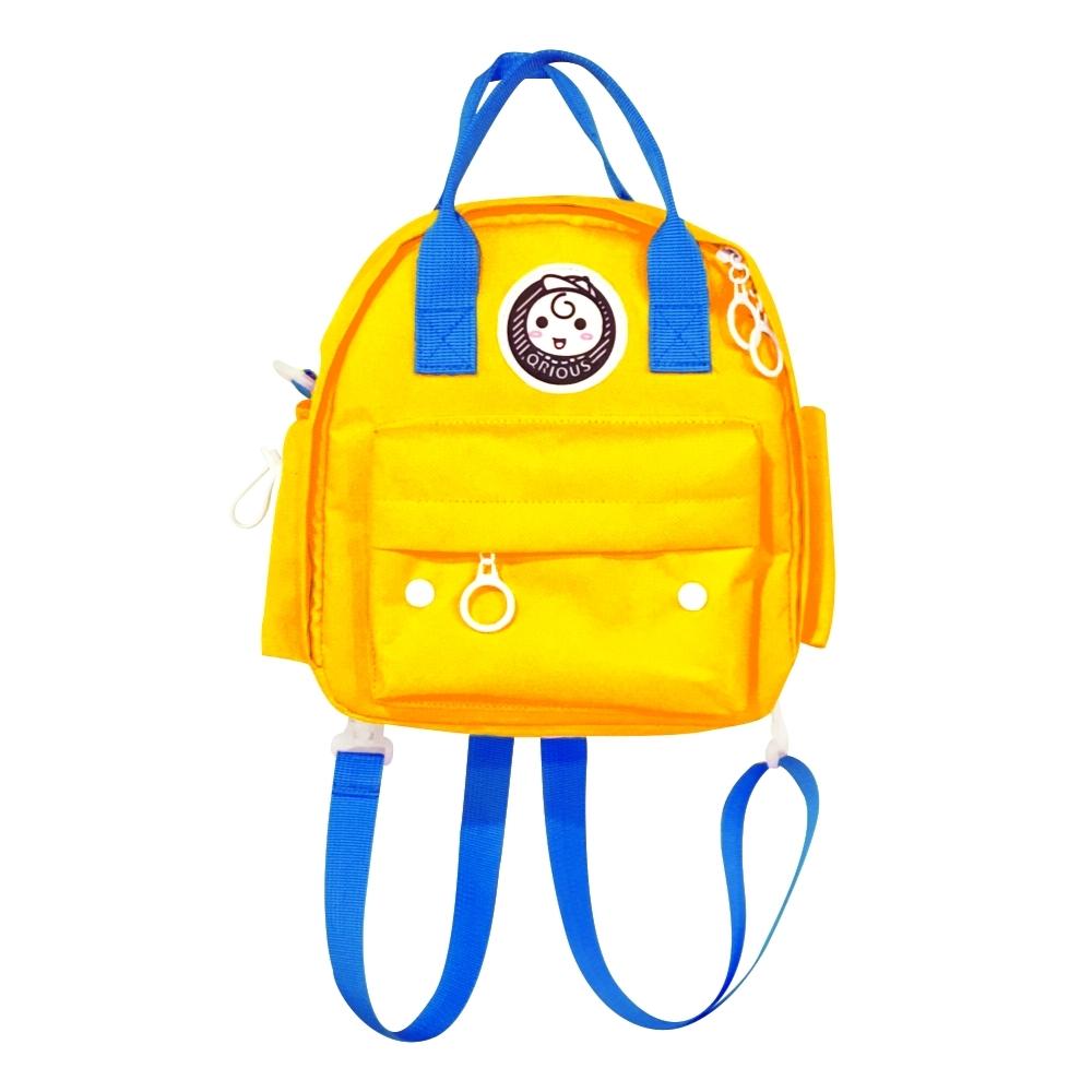 QRIOUS奇瑞斯小Q後背包(黃、綠、粉隨機出貨)