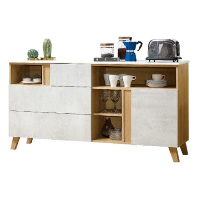 D&T德泰傢俱 JOYE清水模風格5.3尺石面餐櫃-160x41x82cm