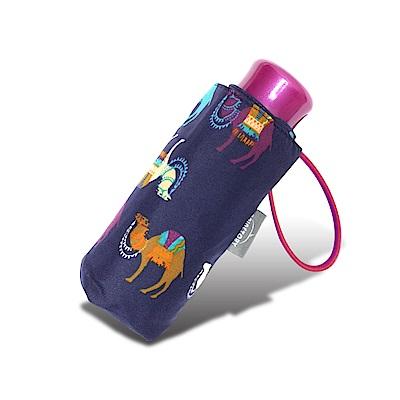 RAINSTORY 彩色駱駝抗UV迷你口袋傘(藍)