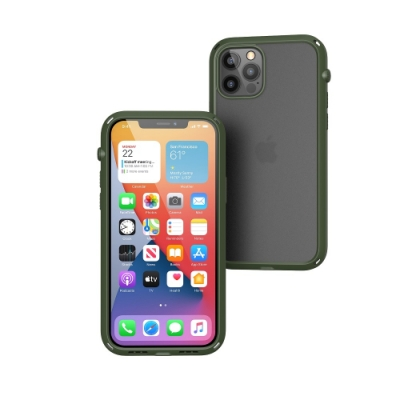 CATALYST  iPhone12 /12 Pro (6.1吋) 防摔耐衝擊保護殼●軍綠