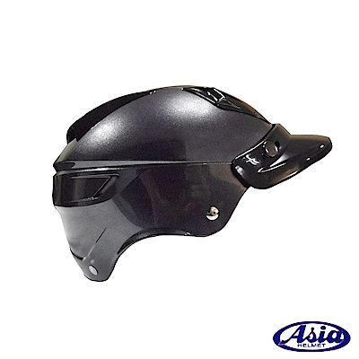 ASIA A-613四合扣半罩式安全帽(不含鏡片) 灰