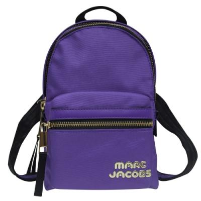 MARC JACOBS Trek Pack 雙拉鍊尼龍後背包-紫色(小)