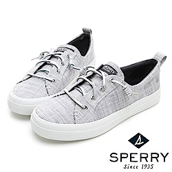 SPERRY 經典復古甜心粉嫩帆布鞋(女)-銀色