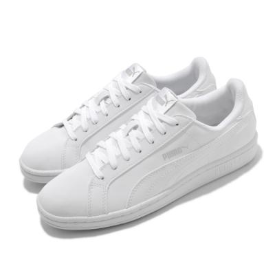 Puma 休閒鞋 Smash Buck 復古 女鞋 基本款 皮革鞋面 百搭 上學 白 灰 35675324