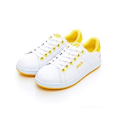 FILA  女潮流復古綁帶鞋-黃 5-C116T-910