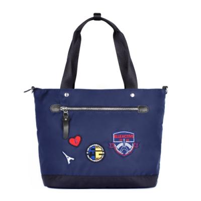 ELLE Active 巴黎遊記系列-多用托特包/肩背包/購物袋-深藍色