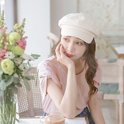 純色質感草編報童帽-OB大尺碼