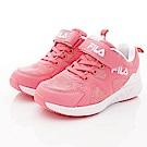 FILA頂級童鞋 透氣反光運動款 FO04T-511粉白(中大童段)