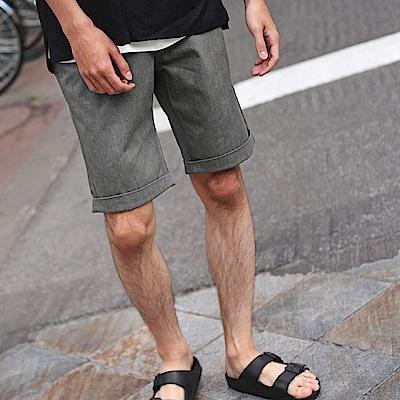 短褲5分褲膝上素色格紋(16色)  ZIP日本男裝