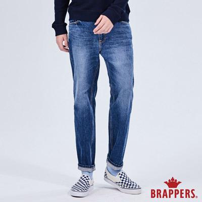 BRAPPERS 男款 HM-中腰系列-褲口不收邊九分褲-藍