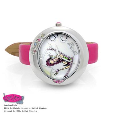 Luscious Girls浪漫少女 一見傾心華麗浪漫風鑽錶(LG006C紅)