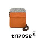 tripose 漫遊系列 岩紋x微皺尼龍護照斜背包 鮮橙橘