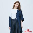 BRAPPERS 女款 Boy friend系列-寬版七分外套-藍