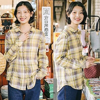 格子色織亞麻襯衫-設計所在