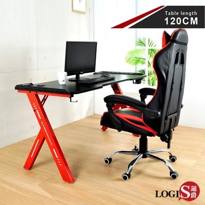 LOGIS  火焰特工碳纖電競桌 工作桌-120*61CM