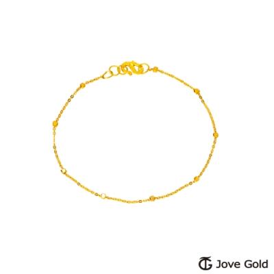 Jove Gold 漾金飾 心跳的聲音黃金手鍊