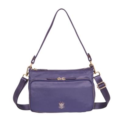 【Bella Borsa】多口袋兩用側背包-紫 BB18A003PL